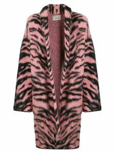 Laneus tiger print coat - PINK