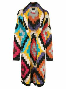 Alice+Olivia Astrid geometric cardi-coat - Multicolour