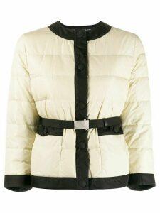 Miu Miu belted puffer jacket - Neutrals