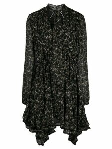 Jonathan Simkhai flared floral-print dress - Black