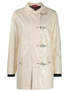 Fay clasp fastened raincoat - Neutrals