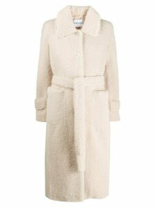 STAND STUDIO Lottie shearling coat - White