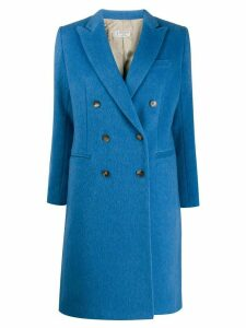 Alberto Biani double-breasted coat - Blue
