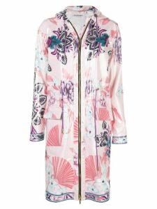 Leonard floral zipped raincoat - PINK