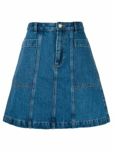 A.P.C. A-line denim skirt - Blue