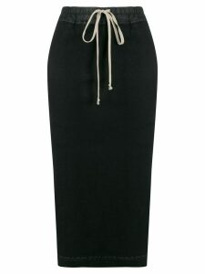 Rick Owens DRKSHDW high waist drawstring skirt - Black