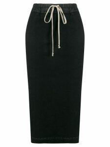Rick Owens DRKSHDW high waist drawstring skirt - Black