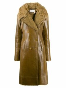 Chloé reversed shearling coat - Brown