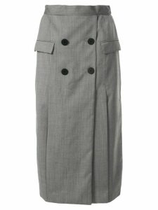 CAMILLA AND MARC Karine button detail skirt - Grey