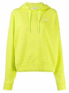Closed embroidered logo hoodie - Yellow