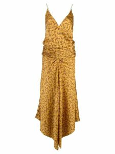 Jonathan Simkhai floral-print ruched-waist dress - Yellow