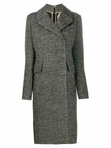 Nº21 straight single-breasted coat - Black