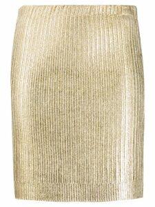 Moschino metallic mini skirt - Gold