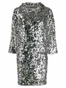 be blumarine sequin embroidered mini dress - Silver