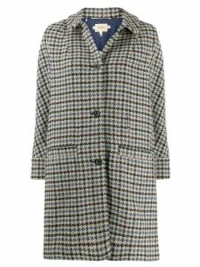 Bellerose houndstooth single-breasted coat - Neutrals