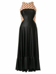 Marine Serre moon print midi dress - Black
