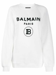 Balmain logo sweatshirt - White