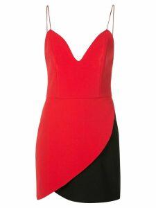 Alice+Olivia Amina two-tone slip dress - Red