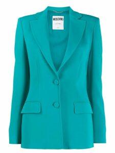 Moschino single-breasted blazer - Blue