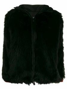 Moncler Grenoble faux fur hooded jacket - Black