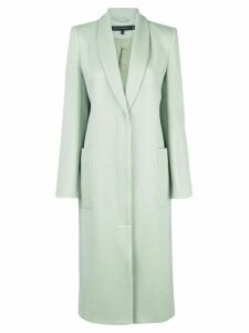 Sally Lapointe single-breasted shawl-lapel coat - Green