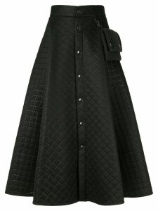 Ujoh quilted flared skirt - Black