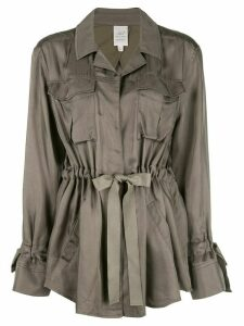 Cinq A Sept twill trench coat - Green