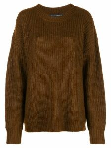 Sally Lapointe oversized crew-neck jumper - Brown