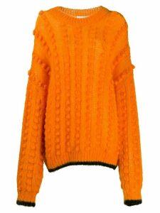 Marco De Vincenzo bubble knit jumper - Orange