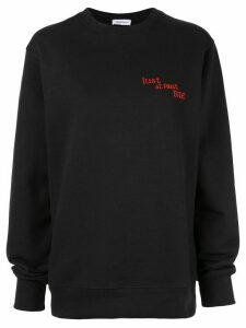 Premier Amour embroidered quote sweatshirt - Black