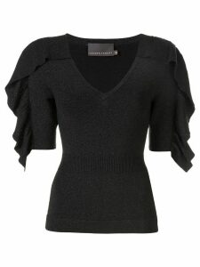 Ginger & Smart Revel knit v-neck top - Black