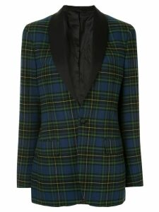 R13 plaid fitted blazer - Blue