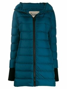 Herno padded mid-length coat - Blue