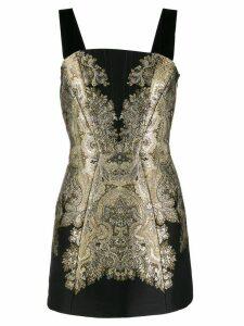 Etro brocade embroidery mini dress - Black