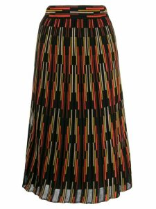 M Missoni stripe pattern knit skirt - Black