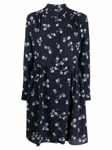 A.P.C. floral print shirt dress - Blue
