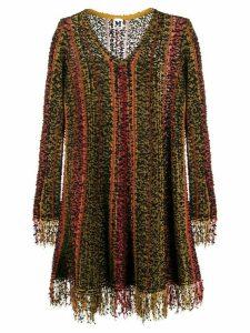 M Missoni fringed long-sleeved dress - Black