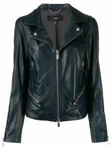 Arma slim-fit zip-up biker jacket - Blue