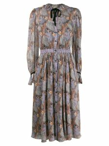 Temperley London Maggie tiger print dress - PURPLE