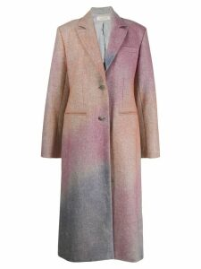 Nina Ricci Spray effect single-breasted coat - PINK