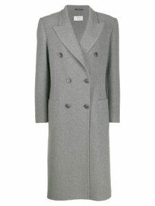 Maison Margiela double-breasted cashmere coat - Grey