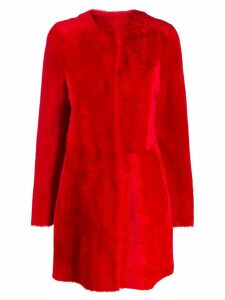 Drome fur midi coat - Red