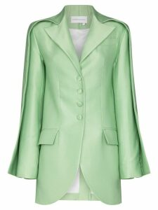 Aleksandre Akhalkatsishvili double sleeve tailored blazer - Green