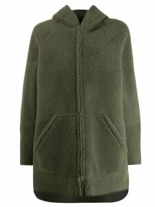 Blancha zipped hooded coat - Green