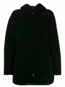 Blancha oversized zipped coat - Black