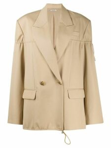 Nina Ricci drawstring double-breasted blazer - Neutrals