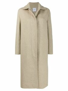 Agnona single breasted coat - Neutrals