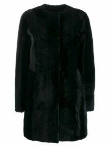 Drome fur midi coat - Black