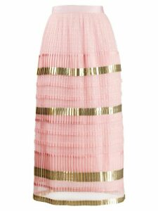 Temperley London Phantom pleated skirt - Pink
