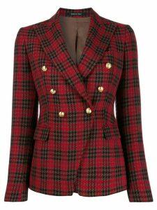 Tagliatore glen-check print blazer - Red